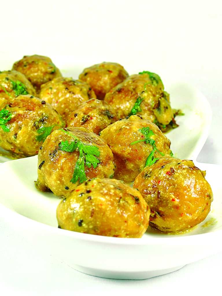 Hyderabadi style potato balls