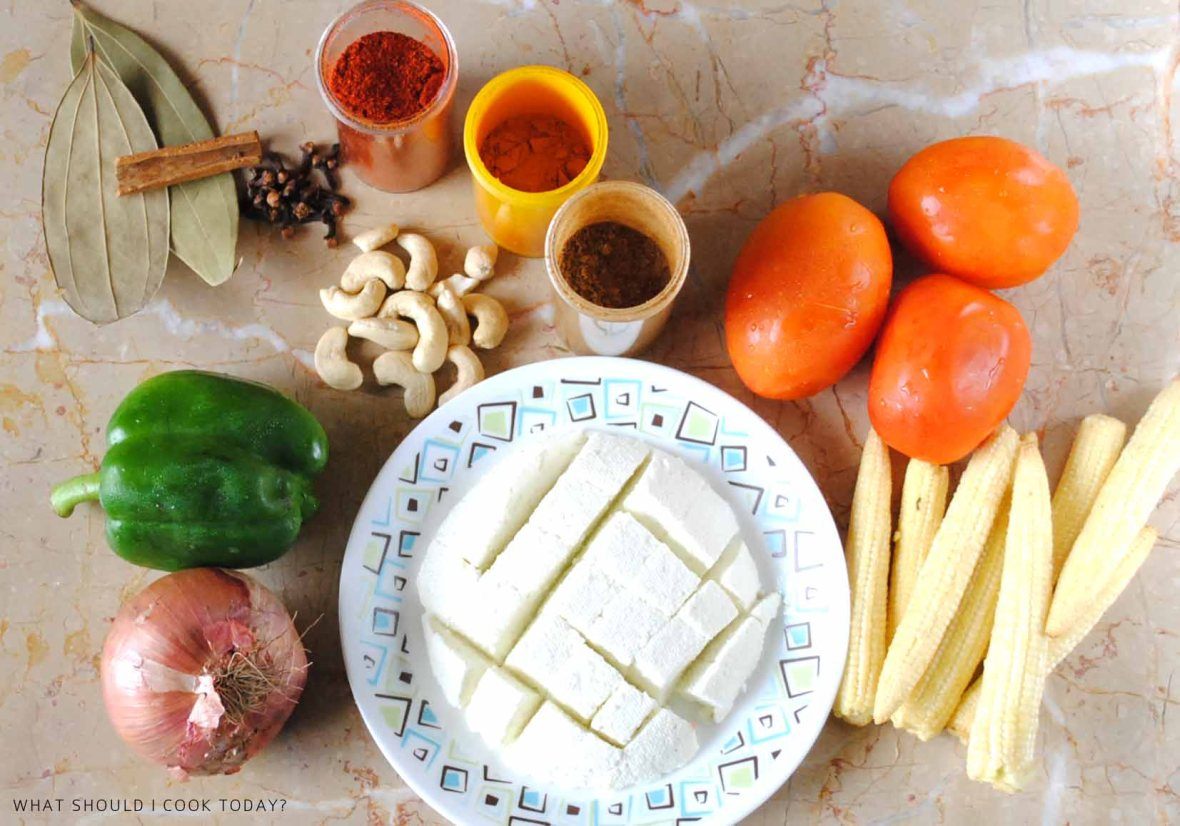 PANEER BABY CORN INGREDIENTS