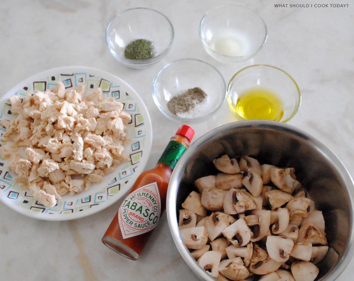 chicken and mushroom salad 1