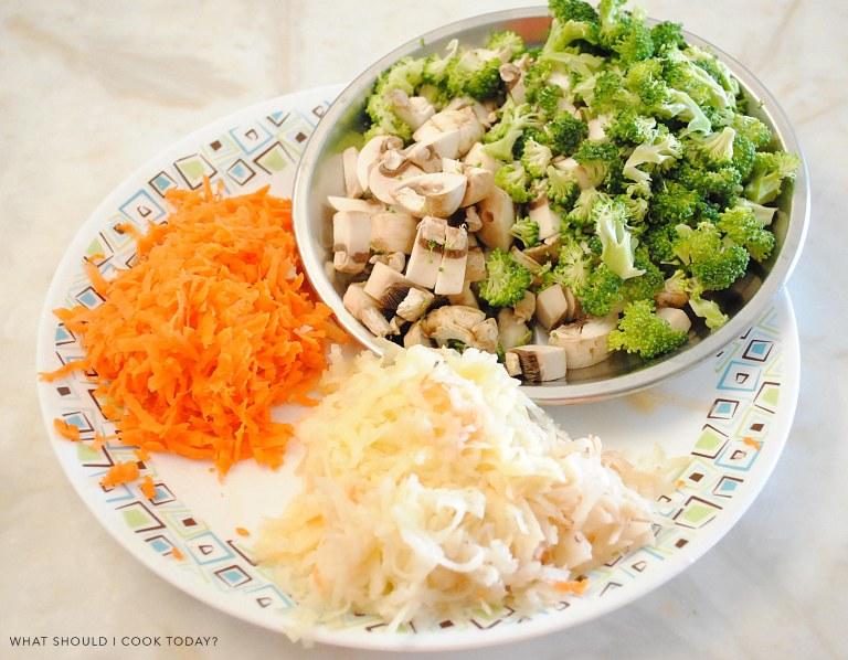 brocoli and mushroom -1