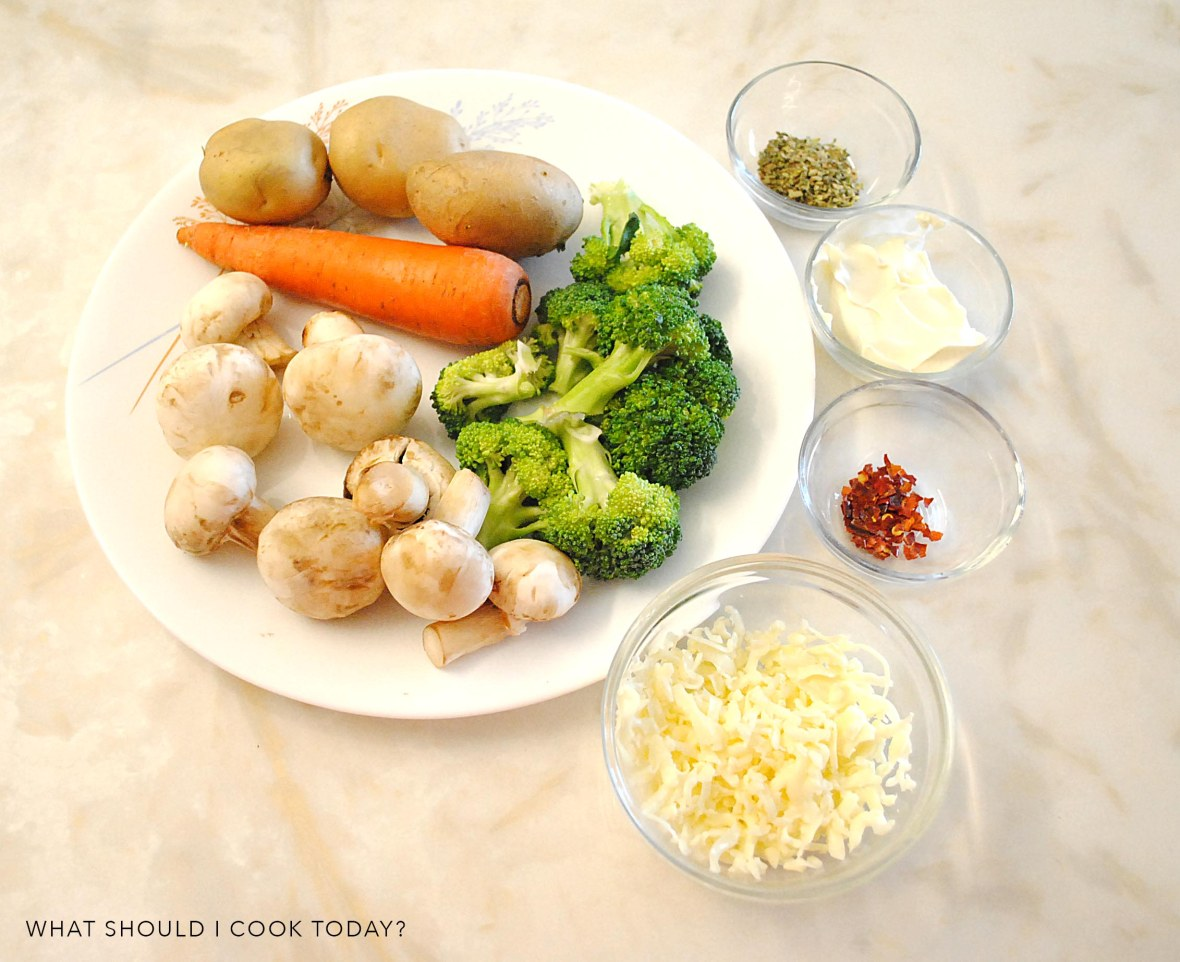 brocoli and mushroom bites ingredients