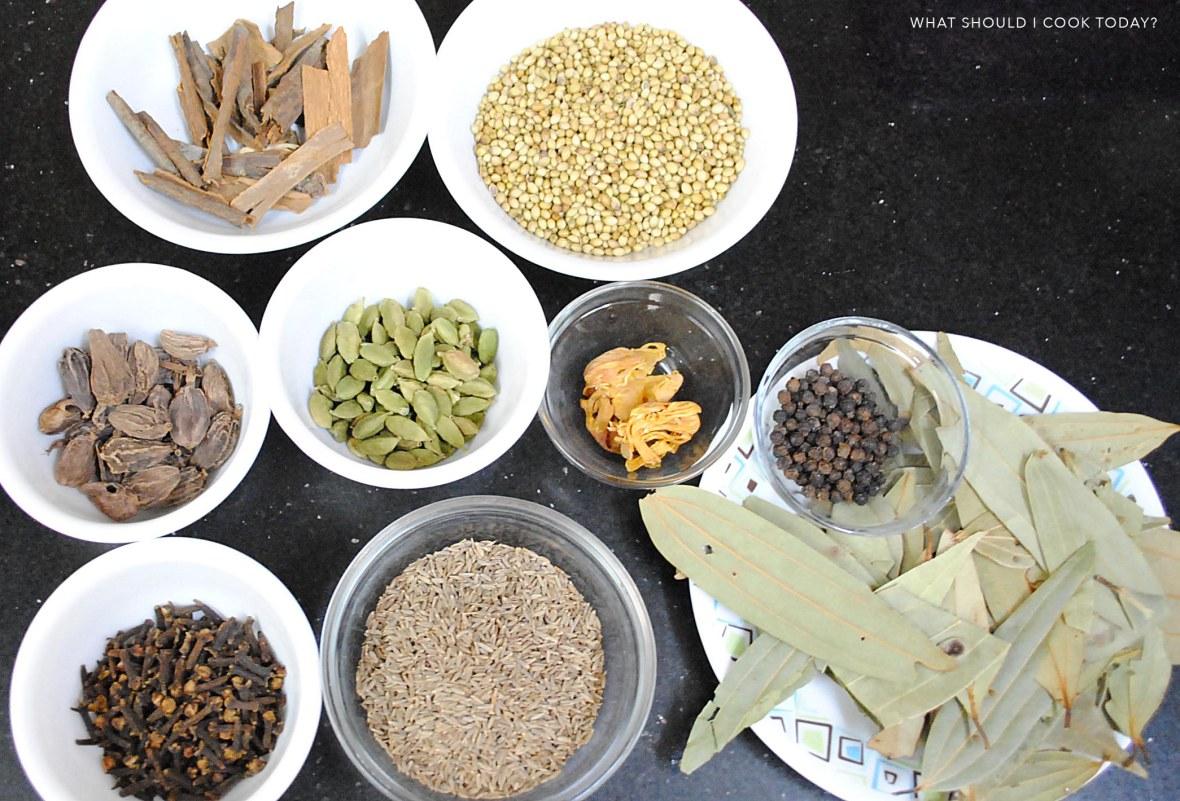 Garam masala powder ngredients