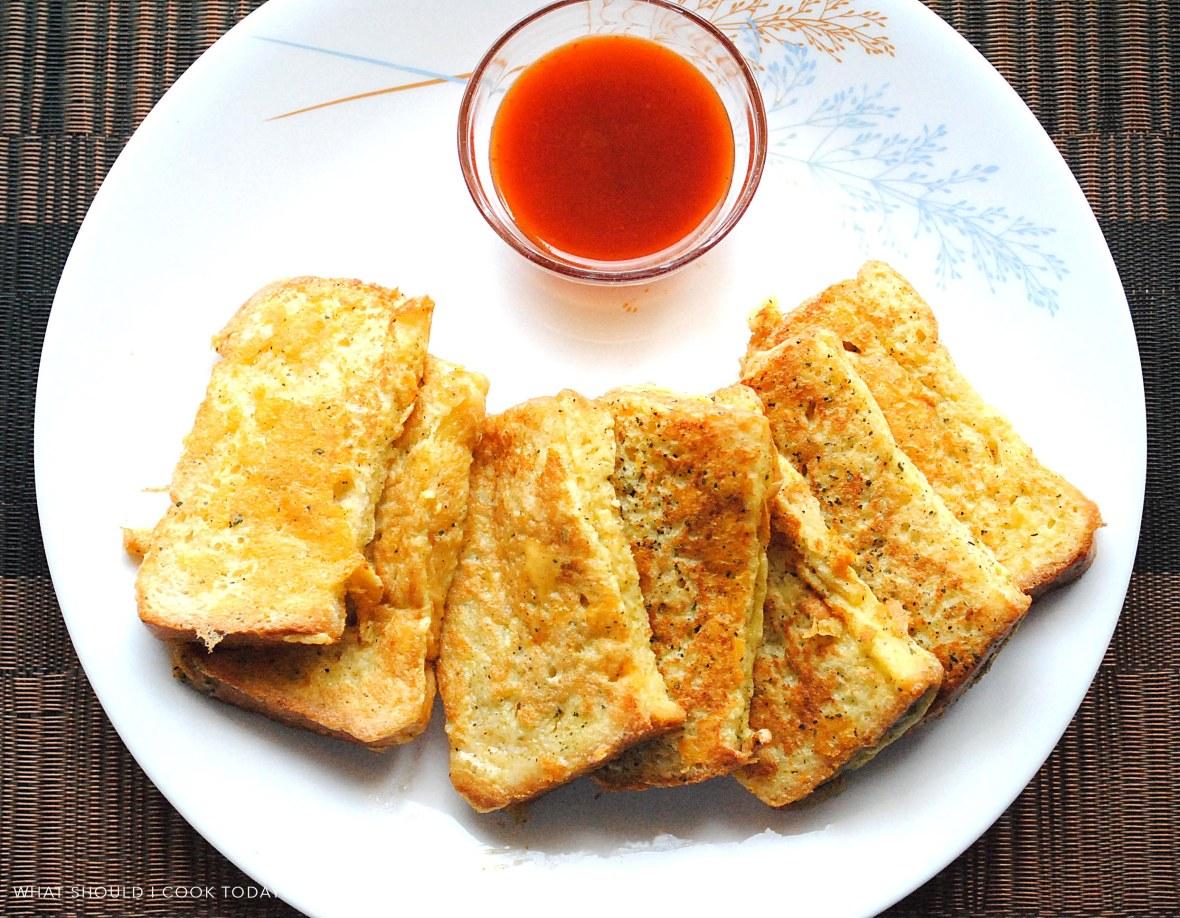 Cheesy frech toaste 1