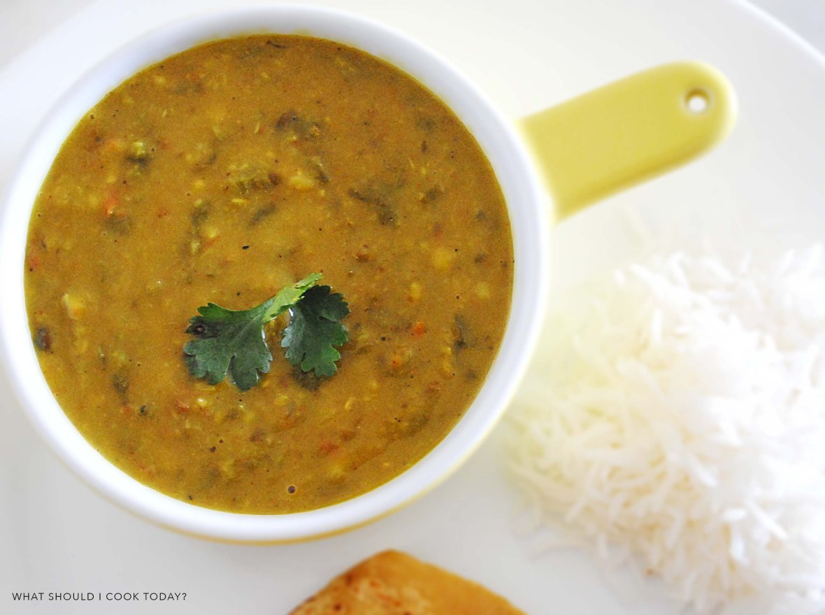 mixed dal with palak final 1