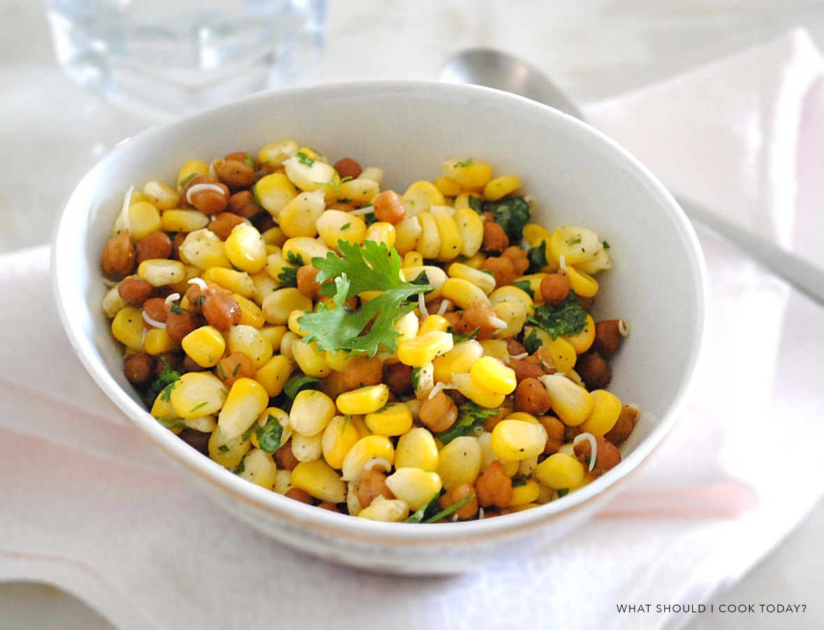 corn and channa salad 1