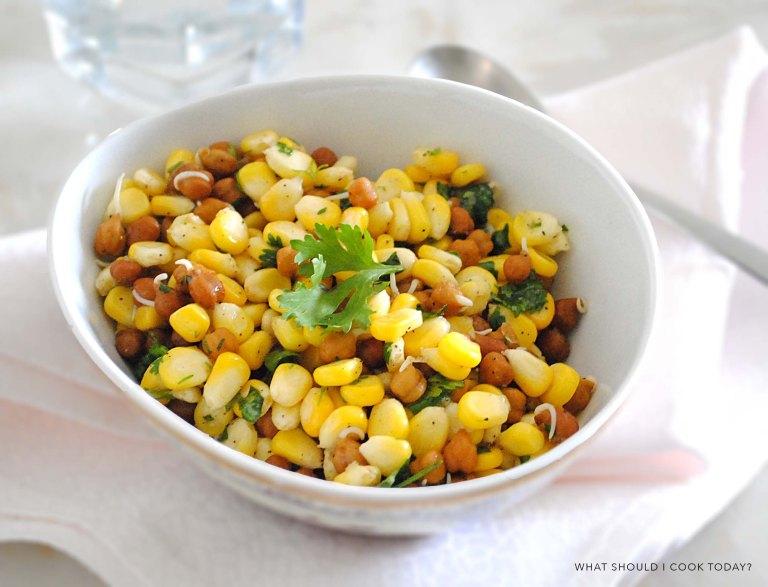 corn and channa salad 1