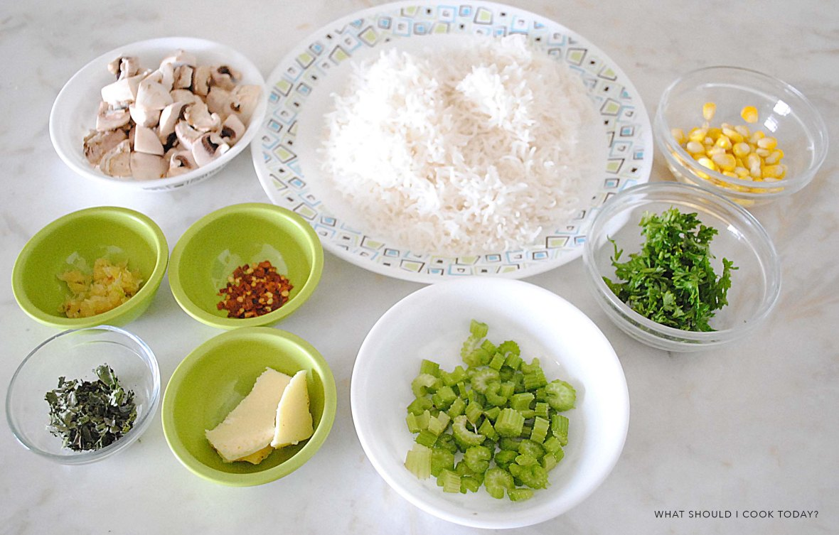 mushroom corn rice ingredients
